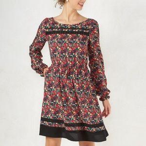 LC Long Sleeve Drawstring 2 Pocket dress